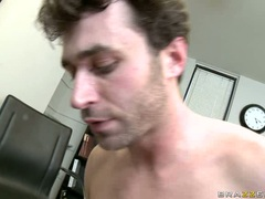 Craving Nikki Hunter took a monster load of cum on her face after a hot bang