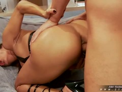 Francesca Le is loving the meaty cock pleasing her tight snatch from behind