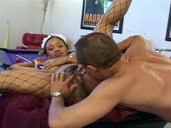Ayana Angel moist twat licked then gets a big dick rammed in fuckhole