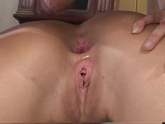 Blonde stunner Monica Sweetheart takes a cock down her dirt chute