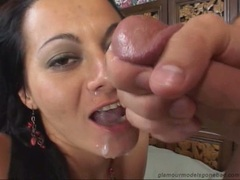Sandra Romain always liked the pleasure of getting jizzed after a horny screw