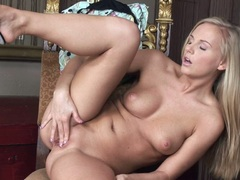 Tara Pink fits her awesome fingers exploring her slippery slits