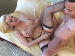 Starla Sterling gets a nice hot load dripping on her slutty mouth