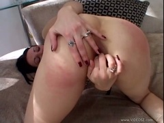 Hot babe Victoria Sin feels the juicy thick cock invading her anally