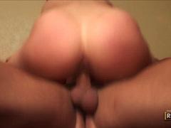 Horny brunettes Bianca Dagger and Rachel Roxx getting blast of cum after group f