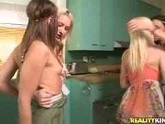 Celeste Star, Jayden Pierson and Sammie Rhodes lusty lesbians at play
