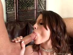Raunchy Kelsey Michaels gets a mouth full off hard cock