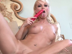 Jana Cova enjoys her toy deeper in her until she cums
