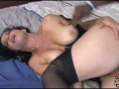 Raunchy Melissa Monet gets her pussy crammed with cock