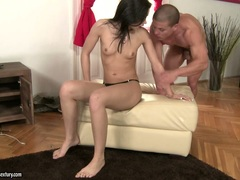 Jessica Koks rubbing a meaty dick with soft feet