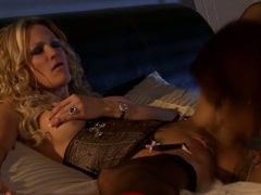 Jessica Drake make love with a horny black babe