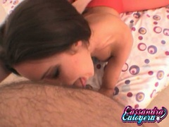 Cassandra Calogera dick licking with hot friend