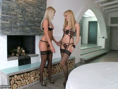 Sophie Moone and sexy girlfriend getting intimate