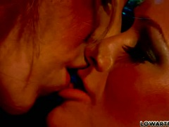 Crista Moore and Kayla Paige kissing too hot
