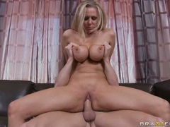 Julia Ann let a hard dick come in her asshole