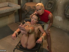 Bianca Arden and Kathia Nobili get tie on chair
