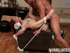 Dani Jensen got tied and have a hard sexual intercourse