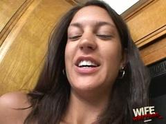 Essy Moore teasing her black stud husband