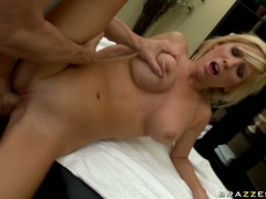Tasha Reign got bit of her ring by hunk massage guy
