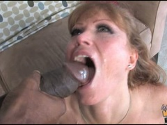 Darla Crane let black spunk her in mouth with cumshot