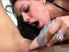 Devon Lee got her pussy dildoed by a horny chick