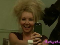 Aaliyah Love blonde babe get wild with her hair