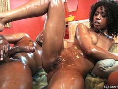 Misty Stone with her friend fuck with one cock