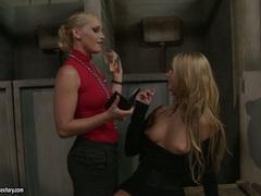 Kathia Nobili torturing a blonde hot babe