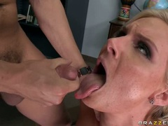 Phoenix Marie tasting the ejaculate sauce on face