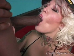 Candy Monroe get wet with boy's hot fluid