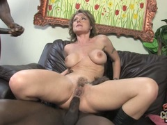 Velicity Von doing a hard sex on couch with black guys