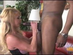 Taylor Wane blonde mom performing a hard suck job