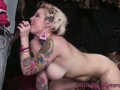 Candy Monroe hot babe cuff a delicious man's carrot