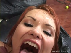 Katja Kassin getting drop with a load of cum