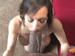Stephanie Wylde milf buffing the hard black cock