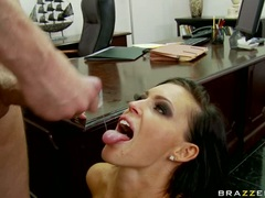 Jenna Presley too happy from semen load from hot staff