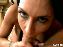 Jessica Jaymes ball off hard a cock of horny guy