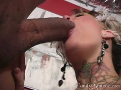 Candy Monroe hot babe blow the dick of a hot guy