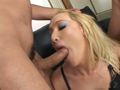 Filthy Jordan Kingsley gets her mouth crammed with cock