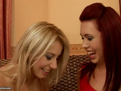Nikky Thorne take the clothes of her friend off