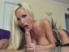 Nikki Benz lusty chick beating off a hard cock