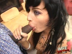 Avy Lee Roth doing a hard hammer hands for her hubby