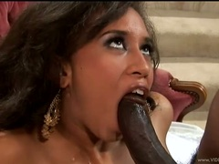 Aurora Jolie blowjob really hard for a hot cock