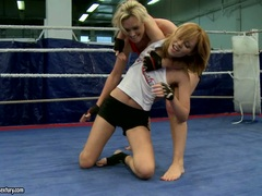 Tanya Tate and other blonde chick fight hard