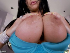 Jenna Presley hot babe gigantic boobs pop on her bra