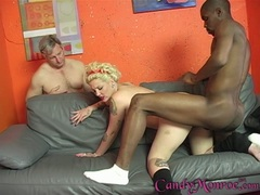 Candy Monroe let the hot dude fuck her tight cunt