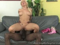 Sammy Spades blonde babe plugged with hard black cock