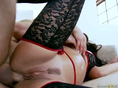 Liza Del Sierra spooning in the ass too hard