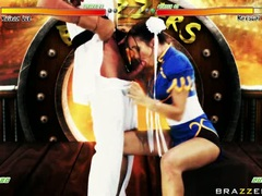 Katsumi lusty babe with guy in costume like hard oral