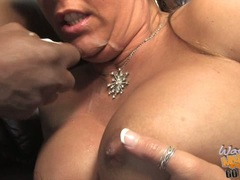 Jocklyn Stone mom filled with cum and her son watch